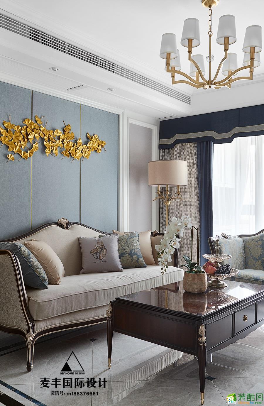 诸暨89�O两室两厅一卫装修―麦丰装饰美式风格设计效果图