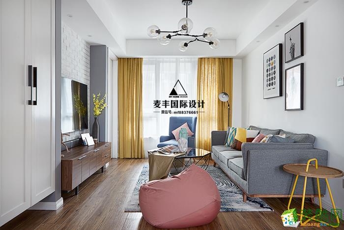 诸暨90�O两室一厅一卫装修―麦丰装饰清新北欧风格作品