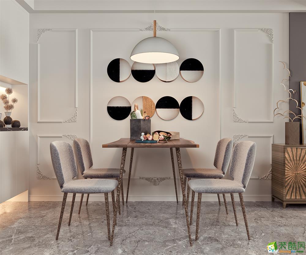 成都150平米三室两厅装修 欧城中式风格装修案例图赏析-培安居装饰