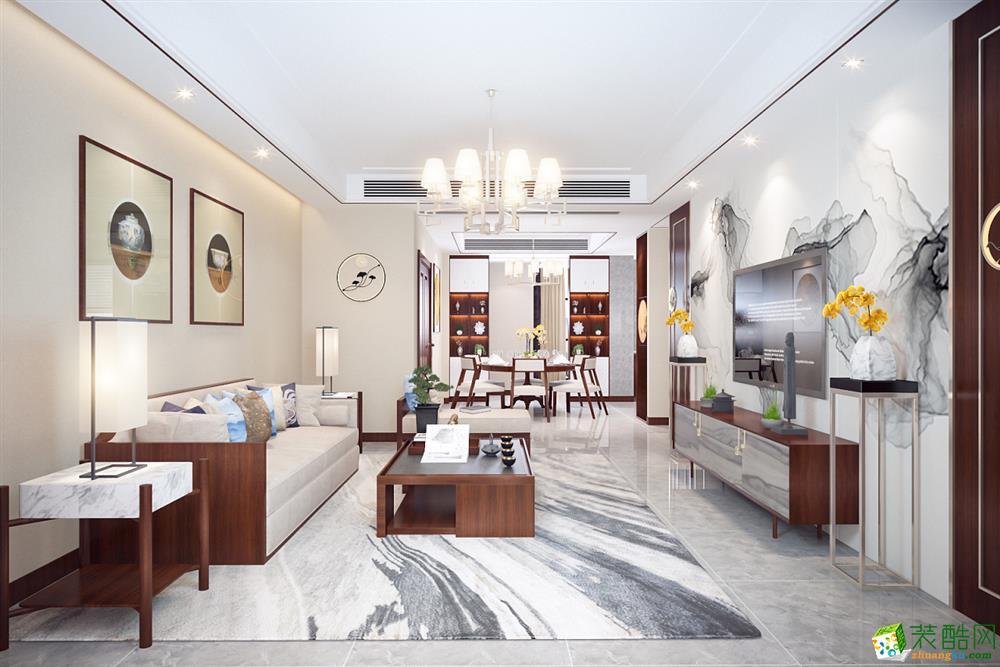 成都130平米三室两厅装修 通用时代中式风格装修案例图--培安居装饰