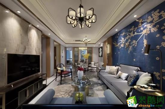武汉三室两厅装修―万豪世纪天街132�O中式风格作品