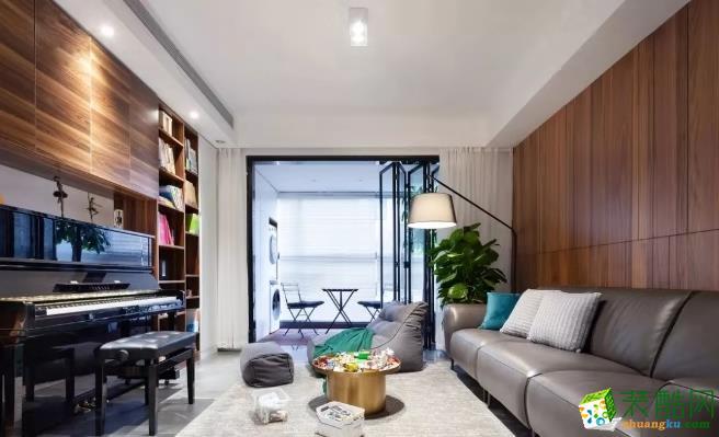 武汉两室两厅装修―东方雨林87�O简约风格作品