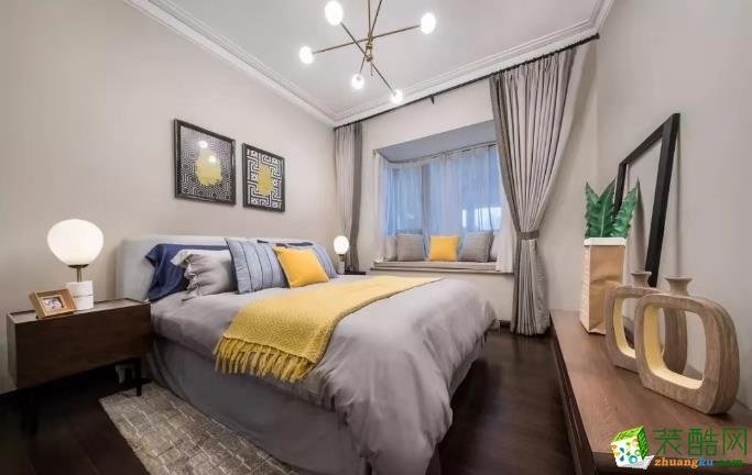 武汉三室两厅装修―锦湖花园125�O简约风格效果图