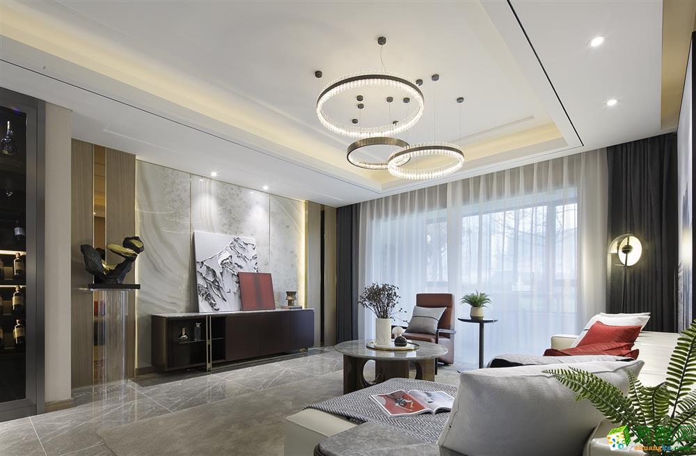 武汉125�O三室两厅两卫装修―龙发装饰现代风格设计作品