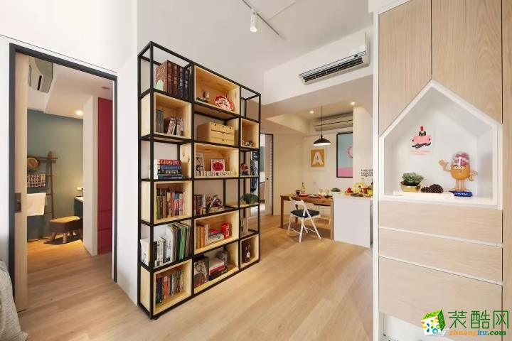 武汉80�O两室一厅装修―天梨豪园简约风格设计效果图