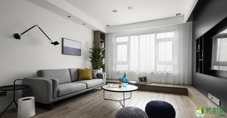 广州103平米三室一厅装修华润幸福里北欧风格装修案例 橙家