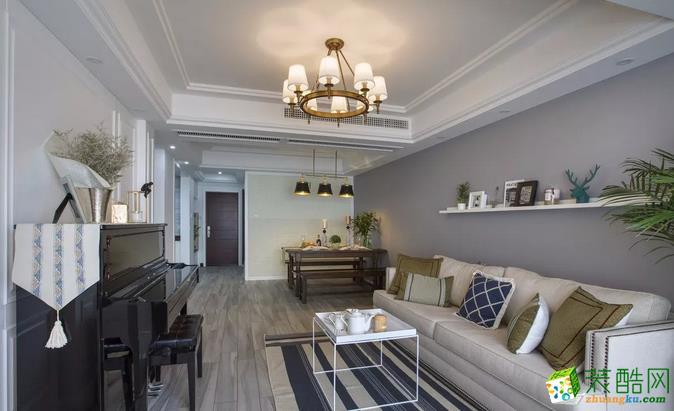 【馨雨装饰】101�O温馨美式三居装修设计案例