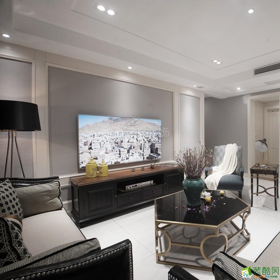 约克郡南郡140平米法式风格三室两厅装修案例效果图-天古装饰