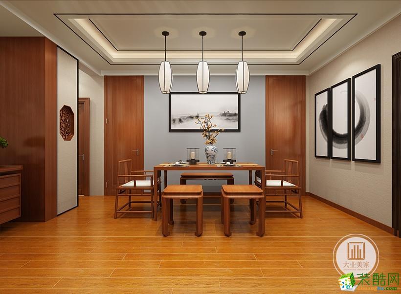 大业美家装饰―海珀兰轩125平方新中式风格装修效果图
