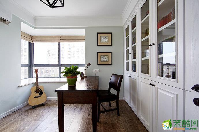 重庆88�O两室两厅美式风格装修 滨江新城装修案例图赏析-佳天下装饰