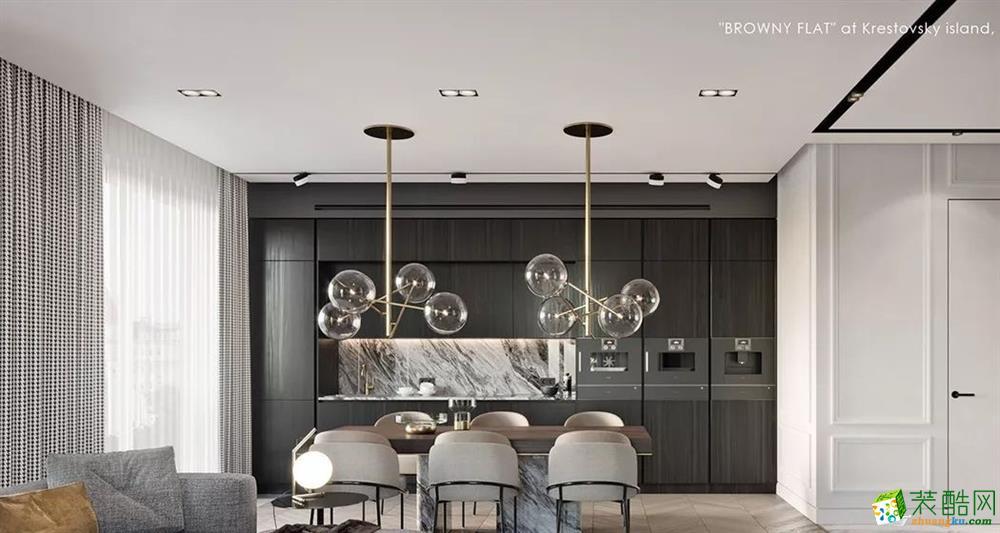 重庆 舜山府215�O简约风格四室两厅一厨两卫装修案例效果图赏析--品界装饰