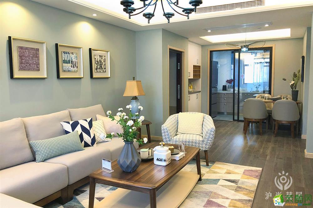 135平米三室两厅一厨两卫北欧风格装修案例-茗居装潢