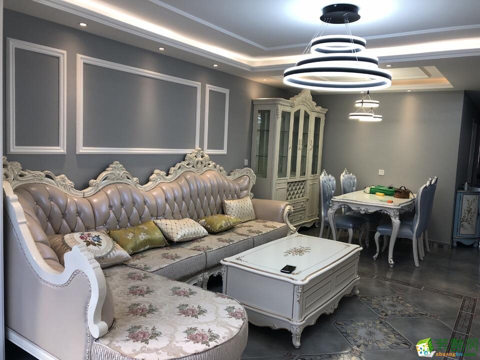 合肥欧式风格设计作品―130�O三室两厅装修设计效果图