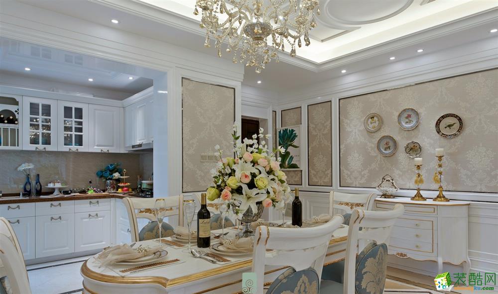 80平米欧式风格两室两厅一厨两卫装修案例效果图赏析-沪佳装饰