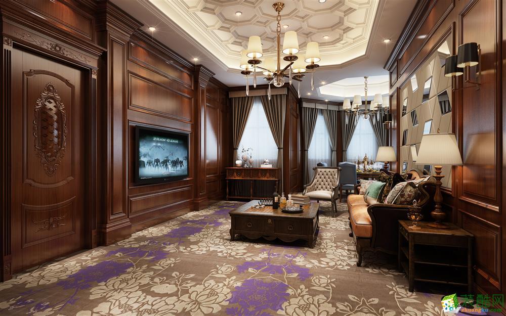 450平米欧式风格独栋别墅装修案例效果图 拉齐娜装饰