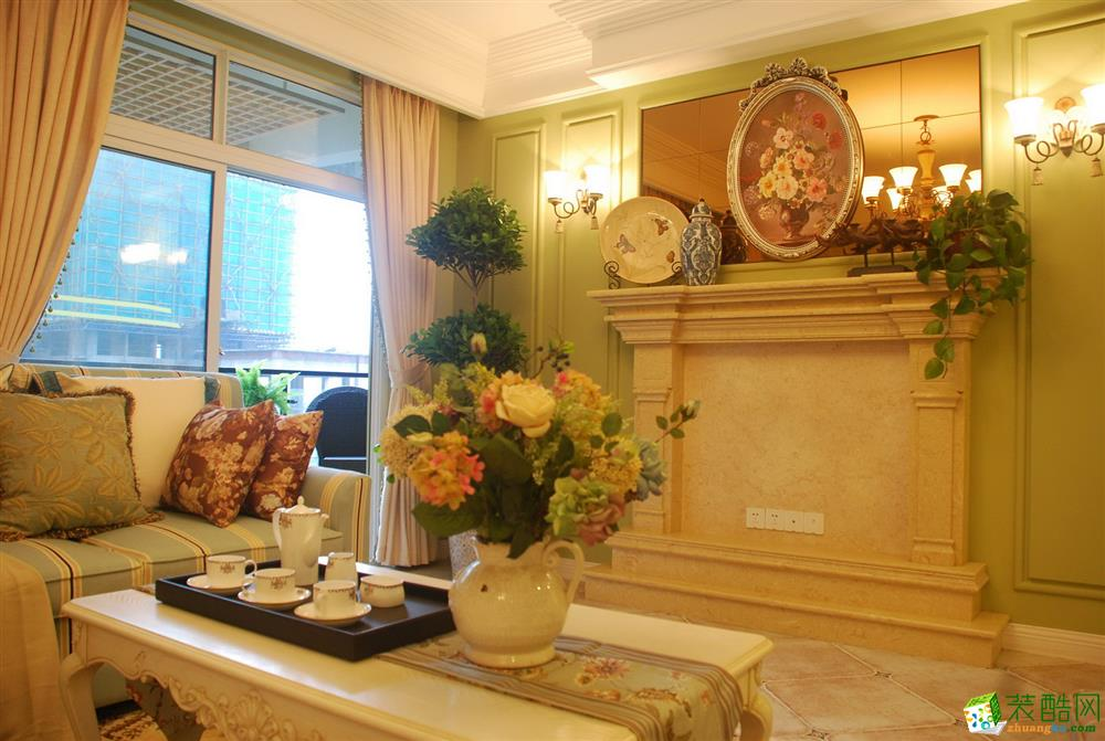 海棠雅居200平米美式风格别墅住宅装修案例图-琅蜂装饰