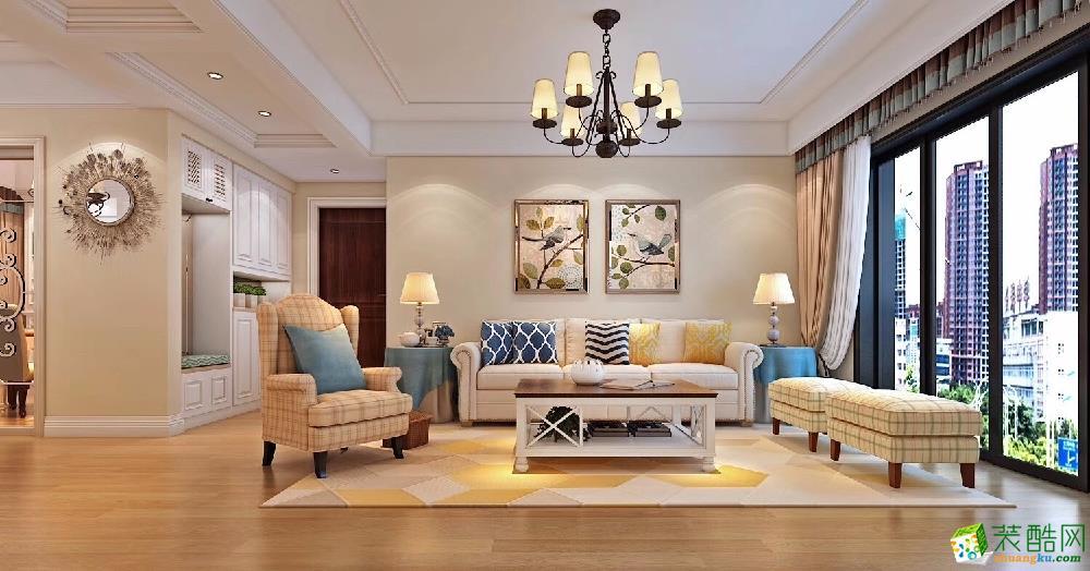 合肥四室两厅装修【九点装饰】琥珀瑞安家园设计效果图