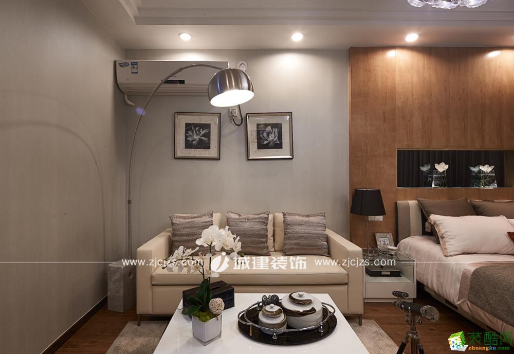 杭州50�O小户型装修―丁桥明珠一室一厅现代简约风格装修效果图