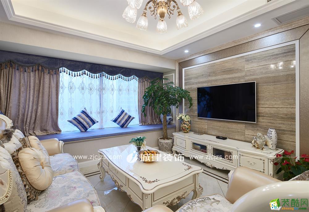 杭州89�O新房装修―万和玺园2室2厅1卫简欧风格装修效果图