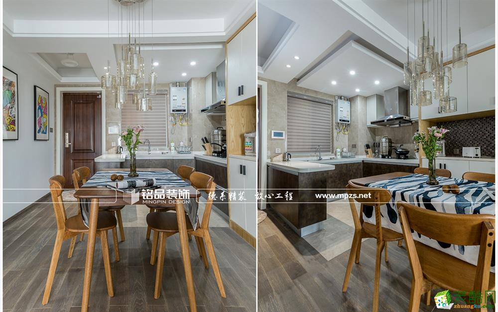 杭州江干区90�O装修―保利江语海三室两厅北欧风格作品