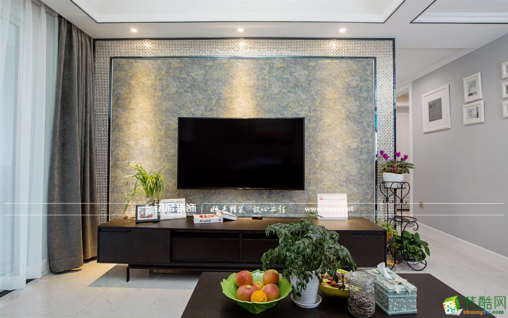 杭州89�O新房装修―天阳晴朗两室两厅一卫现代风格装修效果图