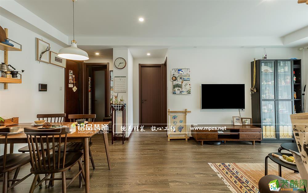 杭州100�O新房装修―寰宇天下三室一厅一卫北欧风格装修效果图