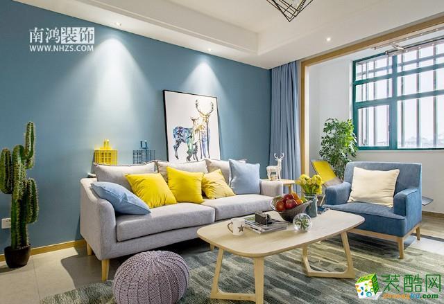 杭州80�O样板房装修―两室一厅一卫北欧风格设计装修效果图