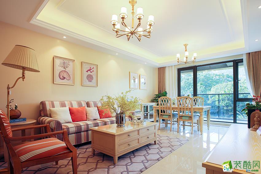 杭州89�O新房装修―田园牧歌2室1厅美式风格设计装修效果图