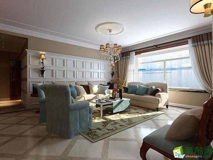 成都100平米两室两厅一厨两卫北欧风格案例装修图-菡萏怡景