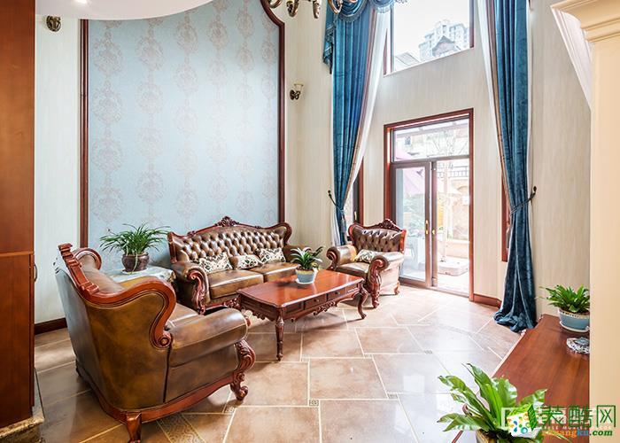 成都保利叶语230平米美式风格别墅住宅案例装修效果-幸福魔方