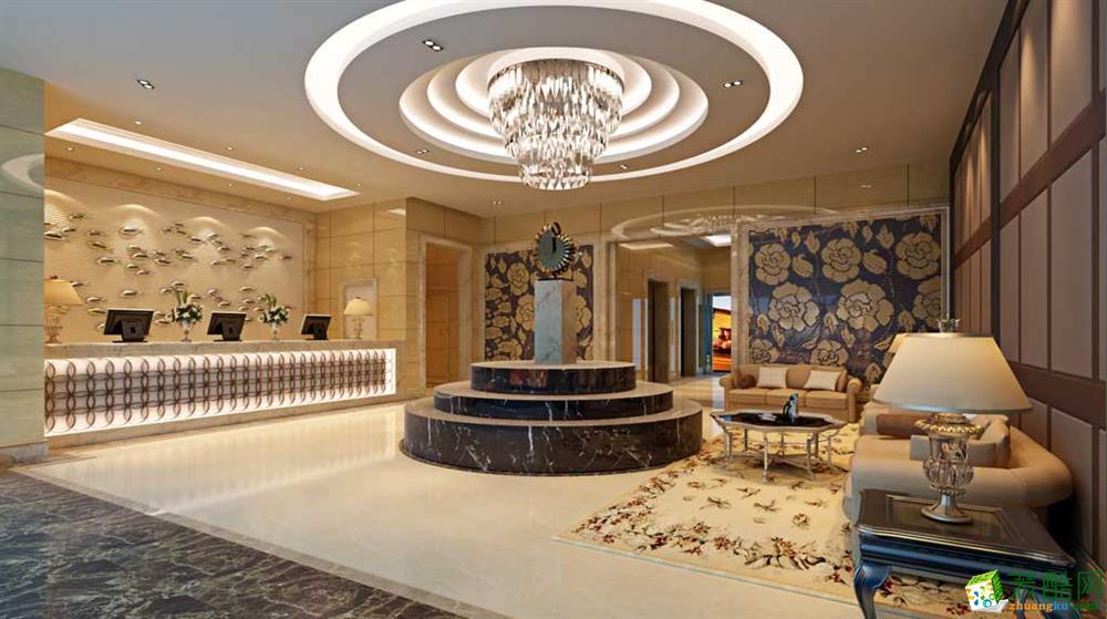 杭州宾馆装修作品—1600㎡丁桥商务宾馆装修设计效果图