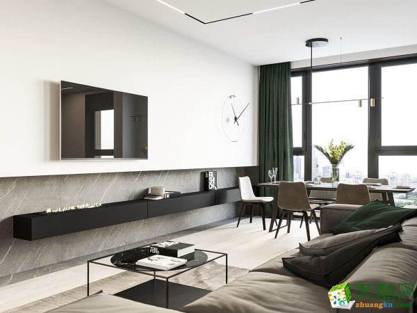 119平米三居室现代简约风格装修效果图_现代风格-三室一厅一卫