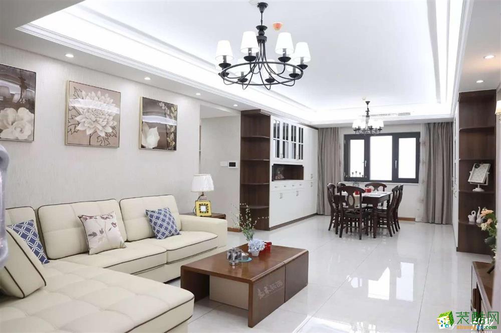 武汉160�O装修效果图―世纪江尚三室两厅两卫现代风格设计作品
