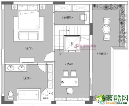 重庆 龙湖・开元别墅350平米中式风格别墅住宅案例装修效果图赏析-品界装饰