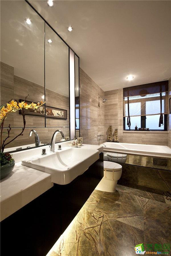 临安136�O新中式风格装修―康源装饰三室两厅设计效果图