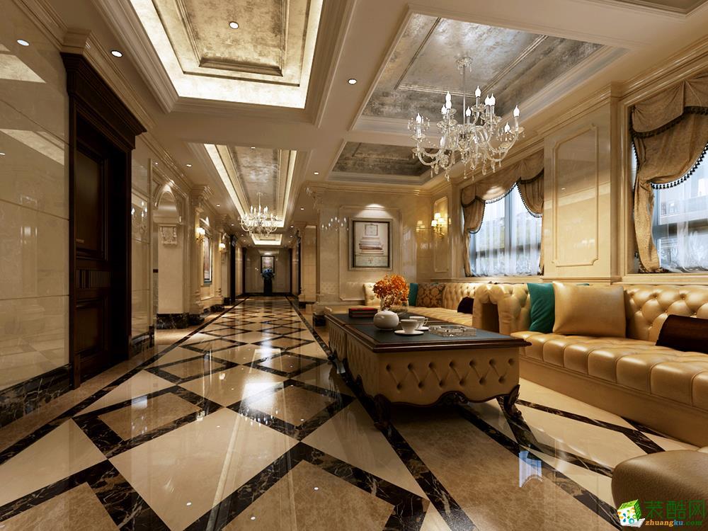 >> 上海棕榈泉花园别墅欧式古典风格800平米案例装修效果图-腾龙设计