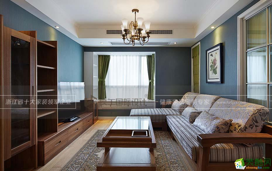 诸暨两室两厅一卫装修―良工装饰89�O美式风格装修效果图