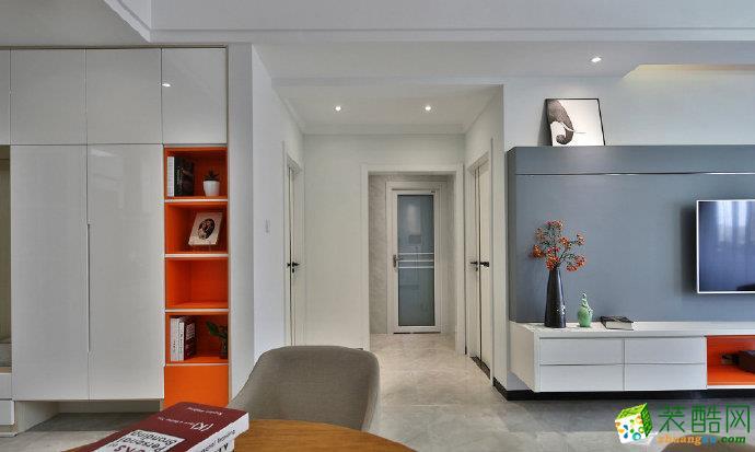 重庆 恒大优活城75平米两室两厅一厨一卫现代风格案例装修效果图赏析-佳天下装饰