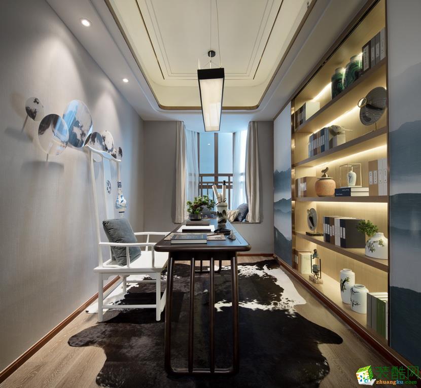 合肥四室两厅装修―180�O新中式风格装修设计效果图