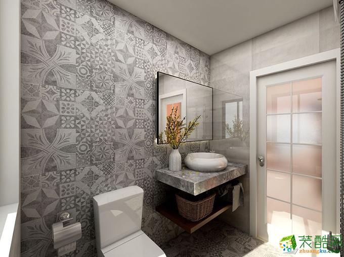 长沙美迪装饰-115平米混搭三居室装修案例