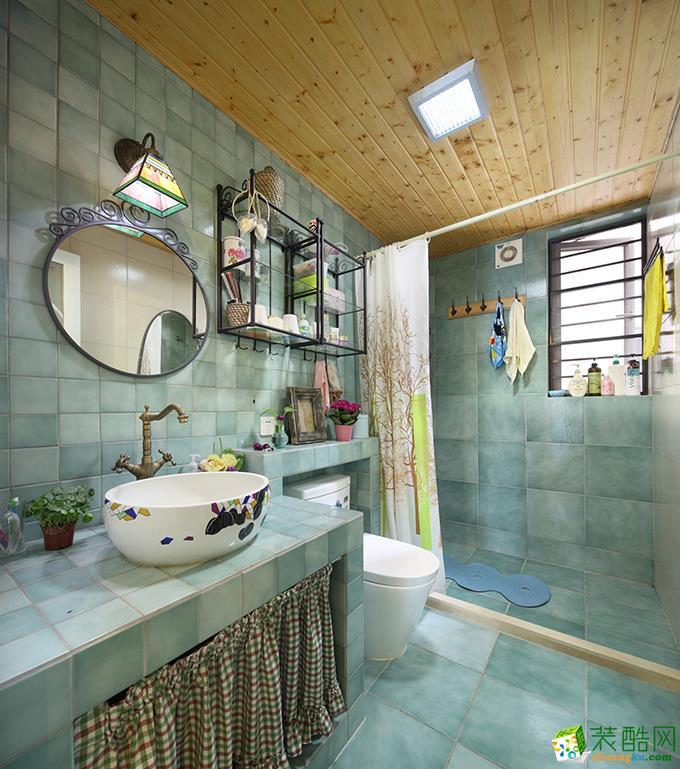 长沙名匠装饰-95平米田园三居室装修案例