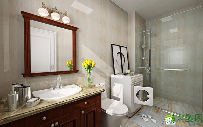 长沙鸿扬家装-120平米美式三居室装修案例