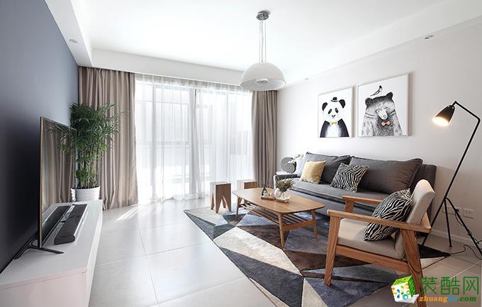 长沙雅筑装饰-110平米现代简约三居室装修案例