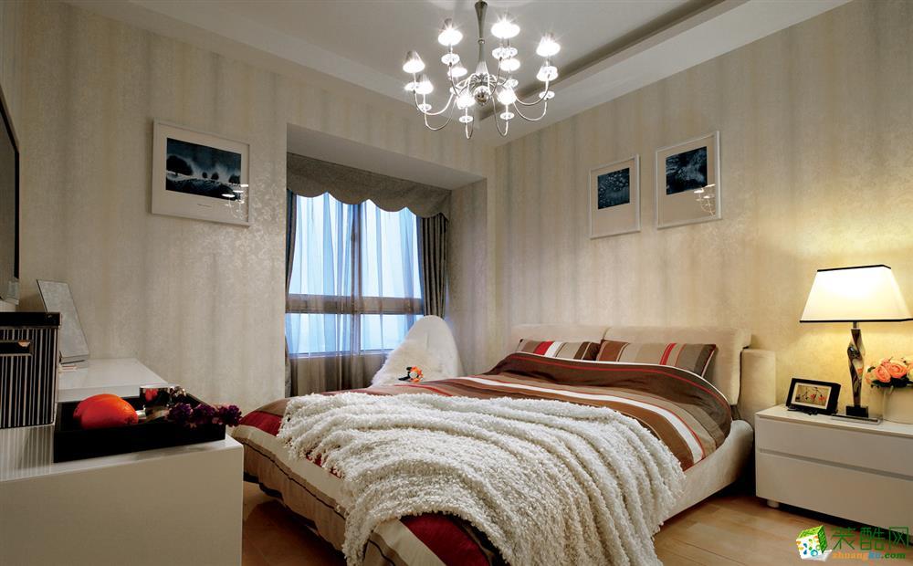 98平米三居室简约风格装修效果图