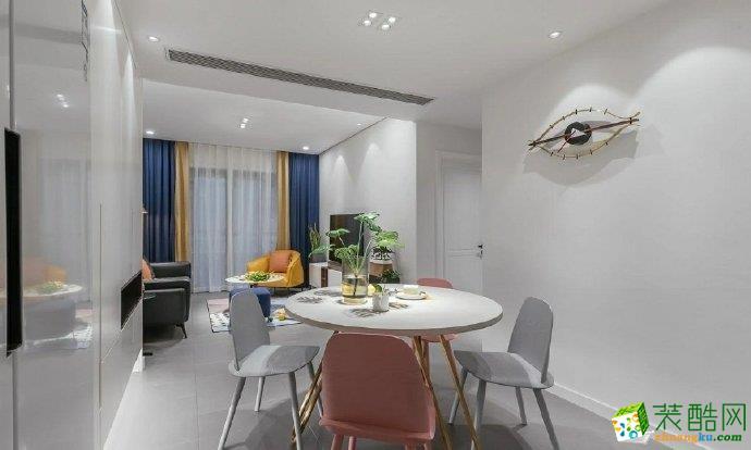 重庆 龙湖西苑100平米三室两厅一厨一卫现代风格案例装修效果图赏析-佳天下装饰