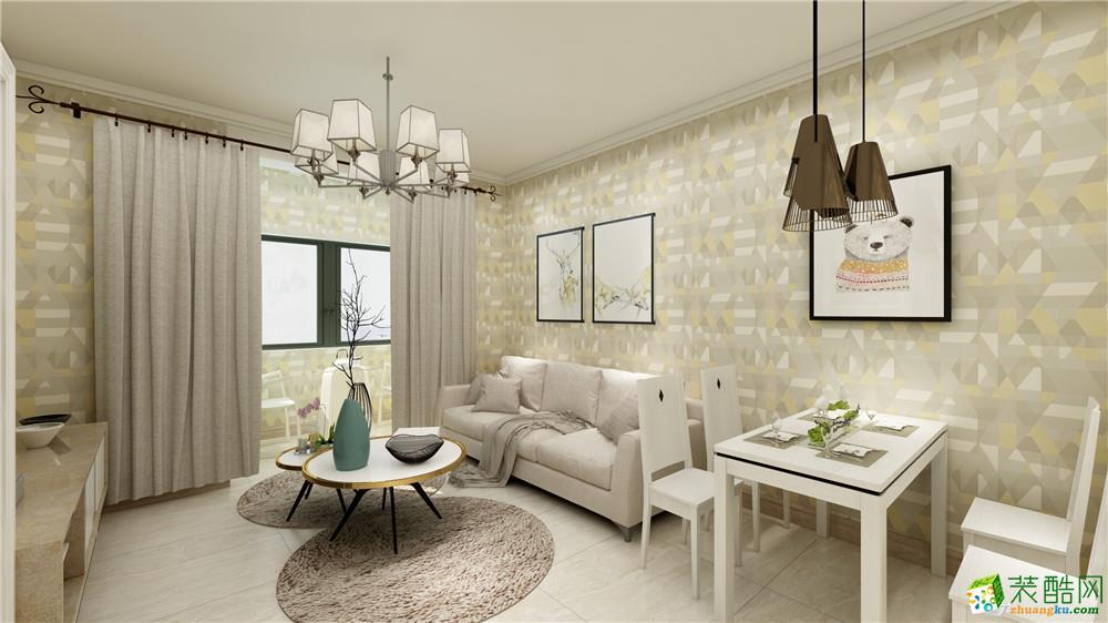 天津82平米两室一厅装修―【力天装饰】龙瀚南园现代风格作品