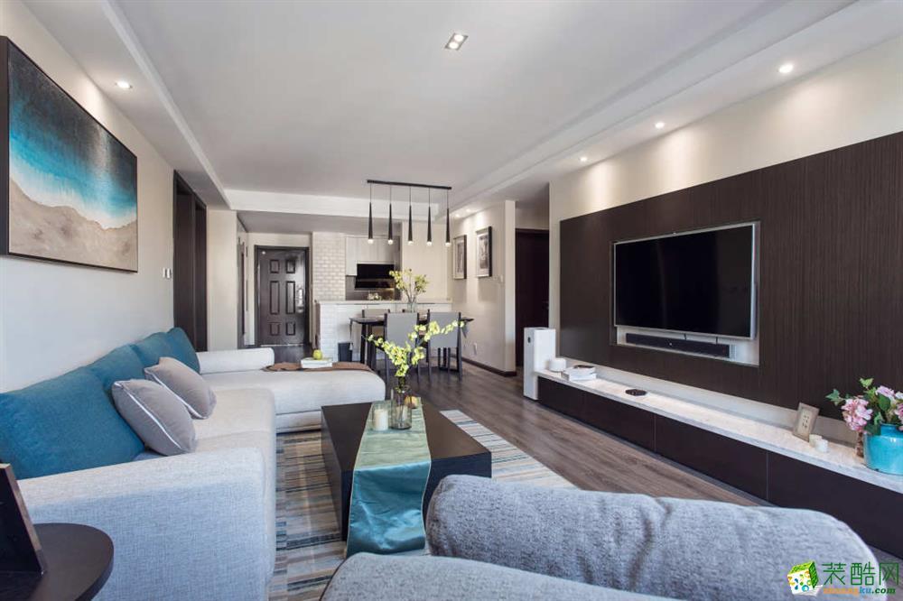 重庆 翡翠谷143平米三室两厅一厨一卫现代风格案例装修效果图赏析-佳天下装饰