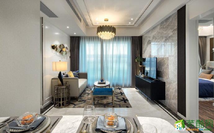 重庆 和黄御峰110平米现代风格三室两厅一厨一卫案例装修效果图-佳