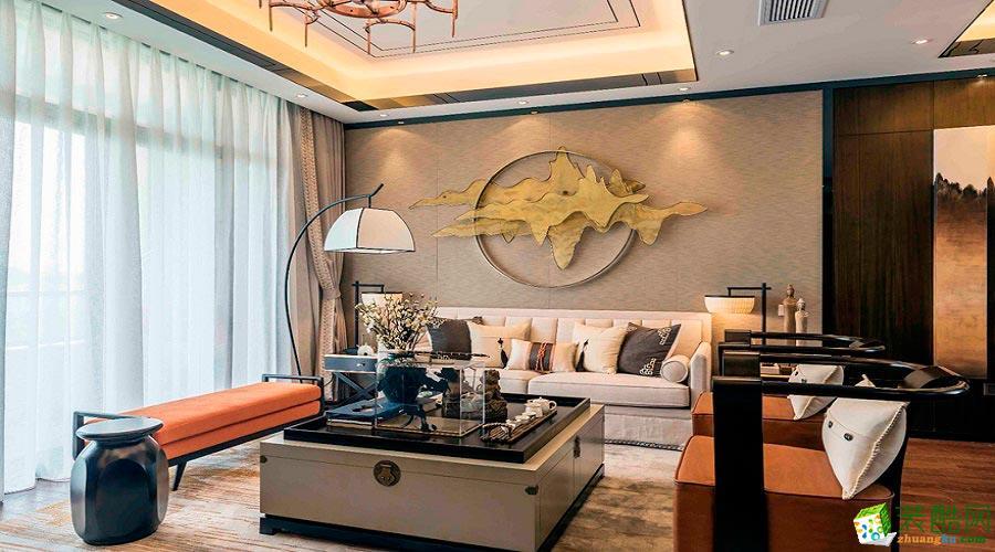 古典中式风格200平米别墅住宅案例装修效果图-培安居装饰