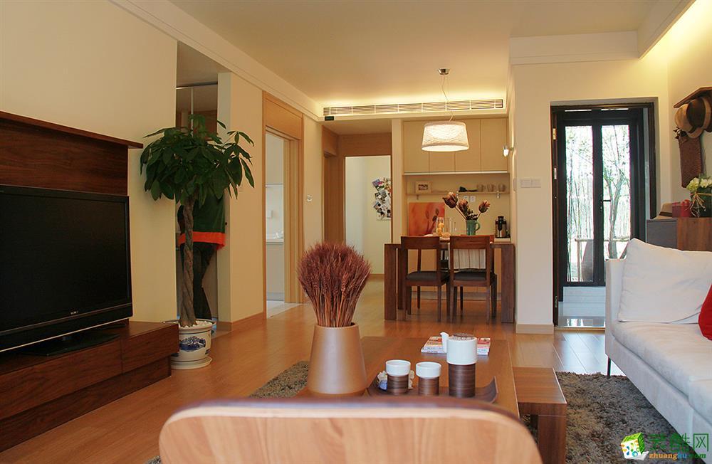 苏州80�O两室一厅装修―未来街区现代风格设计效果图